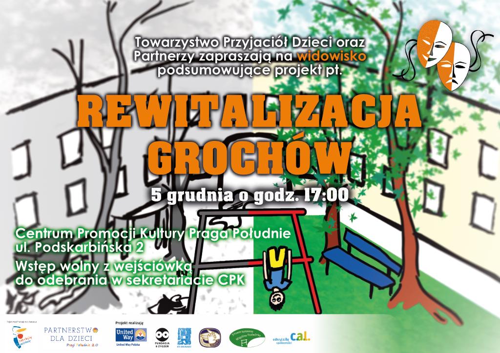 Rewitalizacja grochów 5 grudnia o 17tej w centrum Promocji Kultury